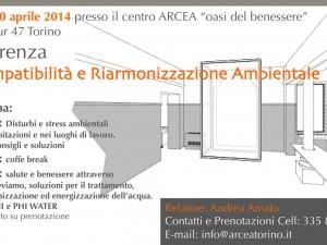 Conferenza di Biocompatibilità e Riarmonizzazione Ambientale – 10 aprile 2014
