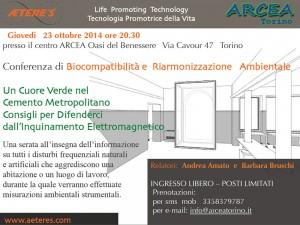 Conferenza di Biocompatibilità e Riarmonizzazione Ambientale – 23 ottobre 2014