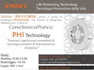 Corso Teorico Pratico PHI Technology del 29/11/2014