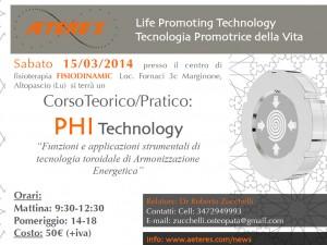 Corso Teorico Pratico PHI Technology del 15/03/2014