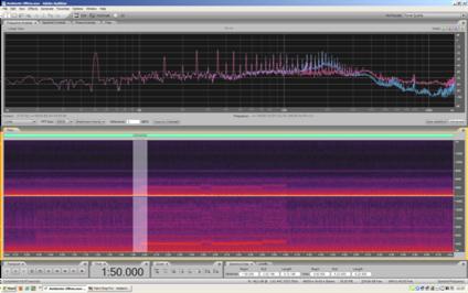 La medesima schermata analizzata prima, con in evidenza una zona di circa dieci secondi di durata.