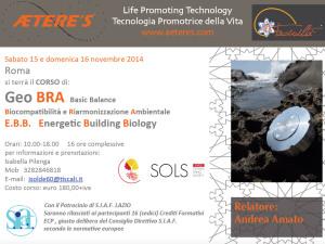 GeoBRA Basic Balance – 15 e 16 Novembre Roma
